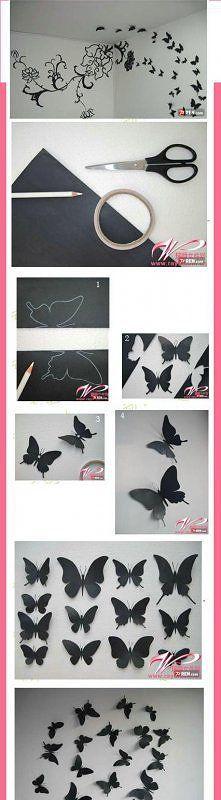 Zobacz zdjęcie papierowe motylki na ścianę