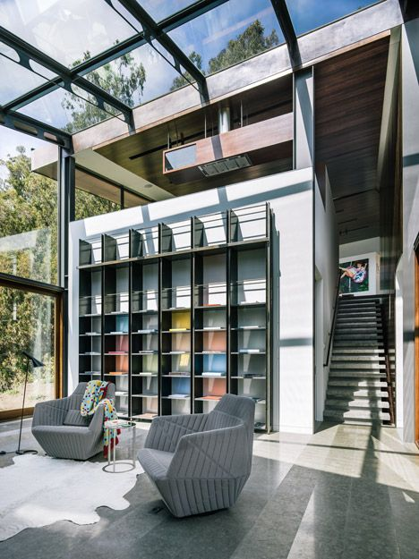 reference for Laurent's house in Samsara Heights -- Fall House by Fougeron Architecture