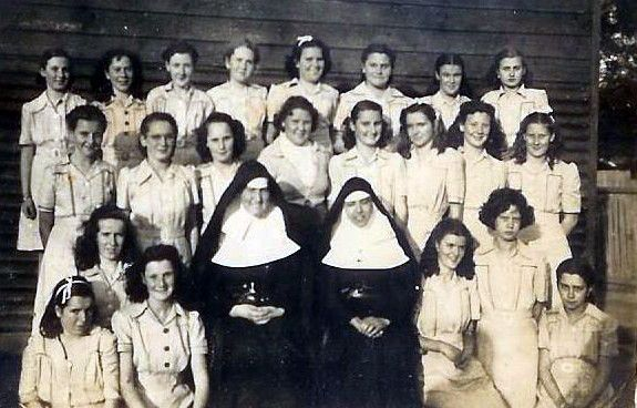 St. Marys...1946 or 48....Rita Anderson 3rd in from right 2nd row. ...Erskineville