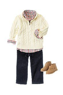 Crazy8.com - Baby Clothes, Baby Boy Clothes. I like this style for my older boys too.