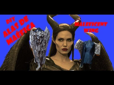 DIY: FÁCIL ALAS DE MALÉFICA/ EASY MALEFICENT WING - YouTube