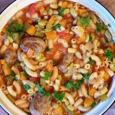 Sausage, Bean and Macaroni Stew by abbe101