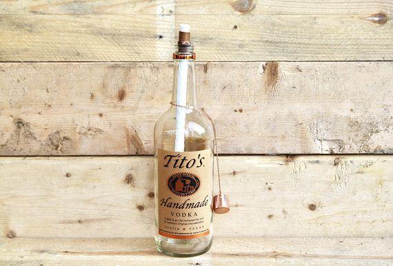 Tito's Vodka Table Top Tiki Torch