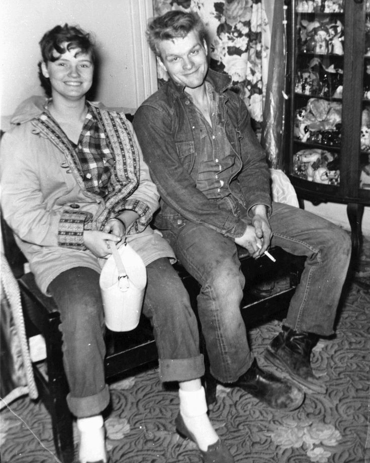 In 1958, Charles Starkweather went on a famous murder spree beginning in Lincoln, Nebraska.  He is pictured here with girlfriend, Caril Fugate, who was with him throughout the crime spree.