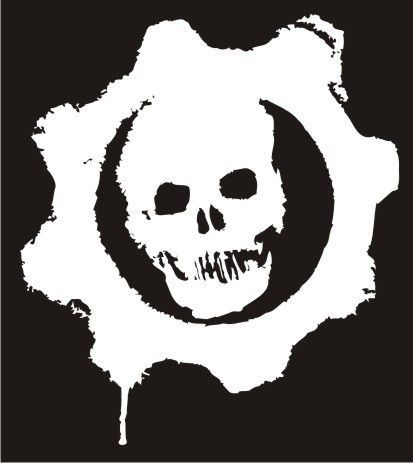 Gears of war skull logo die cut vinyl sticker decal for Gears of war logo tattoo