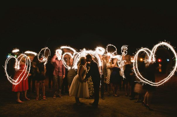 Great effect with the sparklers!!