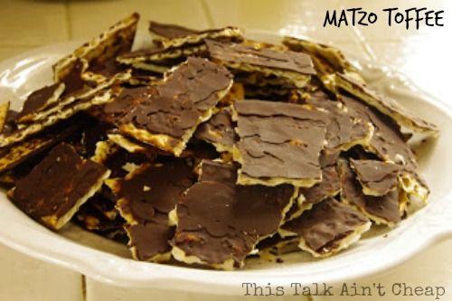 Matzo Toffee With Almonds Recipe — Dishmaps
