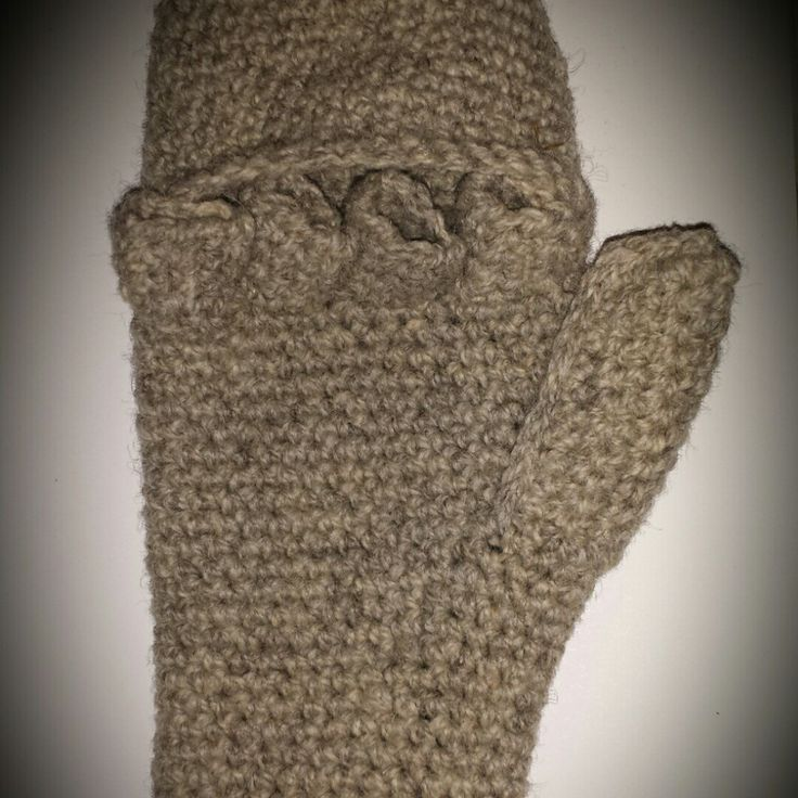 Convertible Mittens Gloves, Uninterrupted Crochet Pattern ...