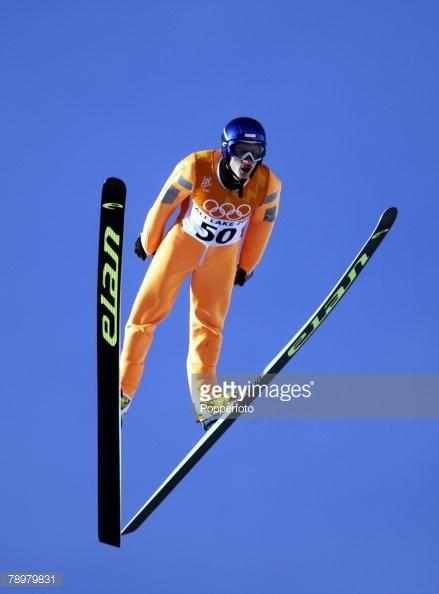 Sport Winter Olympic Games Salt Lake City Utah USA 13th February 2002 Ski Jumping Mens Individual K120 Adam Malysz Poland Silver Medal winner