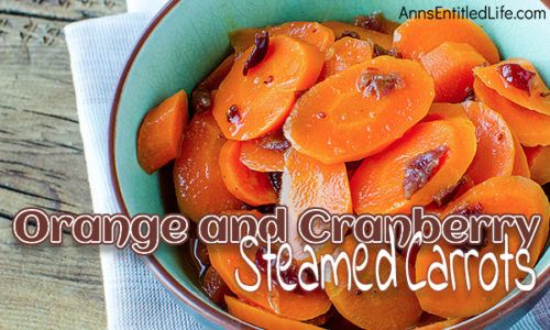 Orange and Cranberry Steamed Carrots Recipe This simple to make side dish recipe dresses up fresh carrots to perfection. Whether you make it for the holidays or for a family dinner this Orange and Cranberry Steamed Carrots Recipe pairs well with turkey pork chicken and beef a wonderful accompaniment to your dinner entrée!