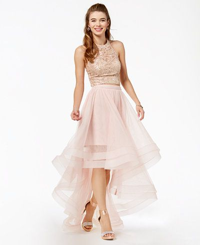 db3e1f89b Say Yes to the Prom Juniors' Embellished 2-Pc. Gown, Created for Macy's