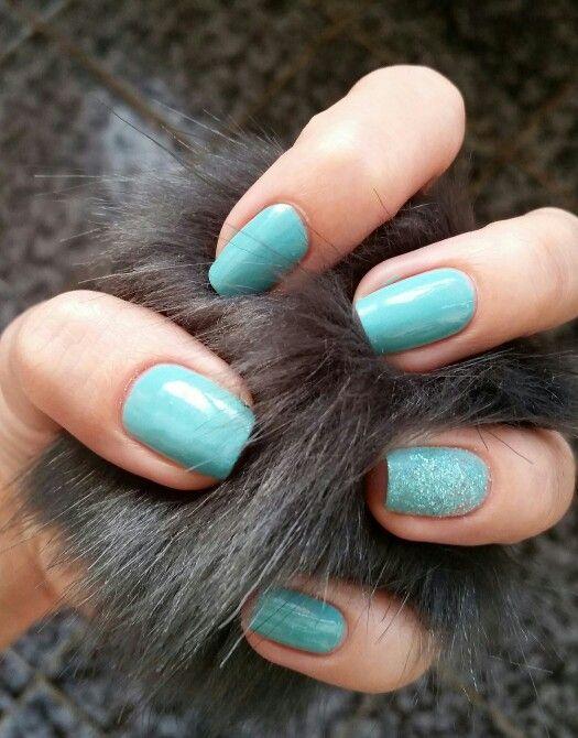 Nails with Ciaté - Ahoy Sailor & Chalet Chich nail topper on accent nail