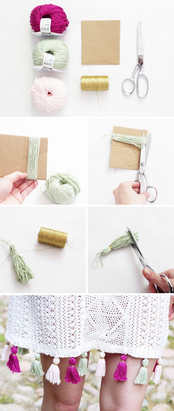 DIY Anleitung: Kleid mit Troddeln Verzieren