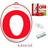 Kiddie Kid- Potty training seat for toddlers and kids, (Red, Unisex) urine splash guard for toilet, non-slip, accessories included, comfy Potty seat, portable potty chair for the around we go