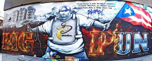 Big pun mural in the bronx by mnyc1 via flickr rappers for Big pun mural bronx