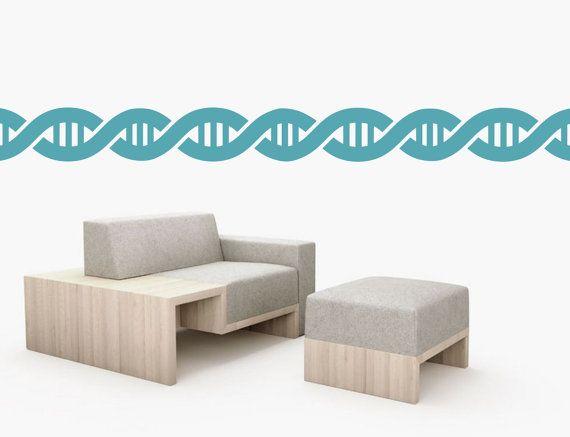 DNA double helix stripes border wall art border  by cutnpasteshop on Etsy