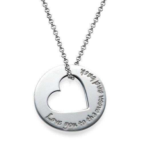 Engraved Necklace with Heart Cut Out | MyNameNecklace