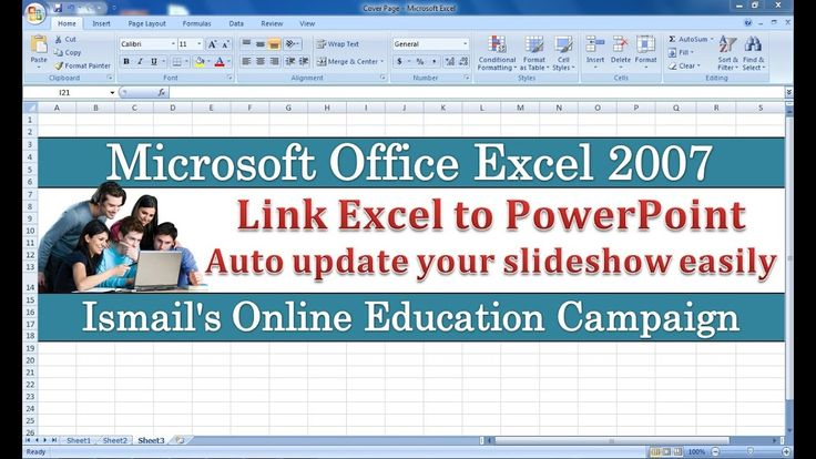 How to Link Excel 2007 with PowerPoint Slide VID#10