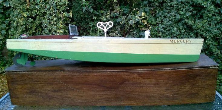 Bassettt :Lowke Mercury clockwork boat circa 1920s worrks bing