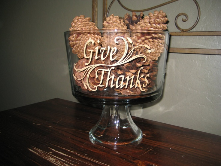 Decorative Vinyl Lettering - Ideas  More! Truffle jar used to hold pine cones!#Repin By:Pinterest++ for iPad#