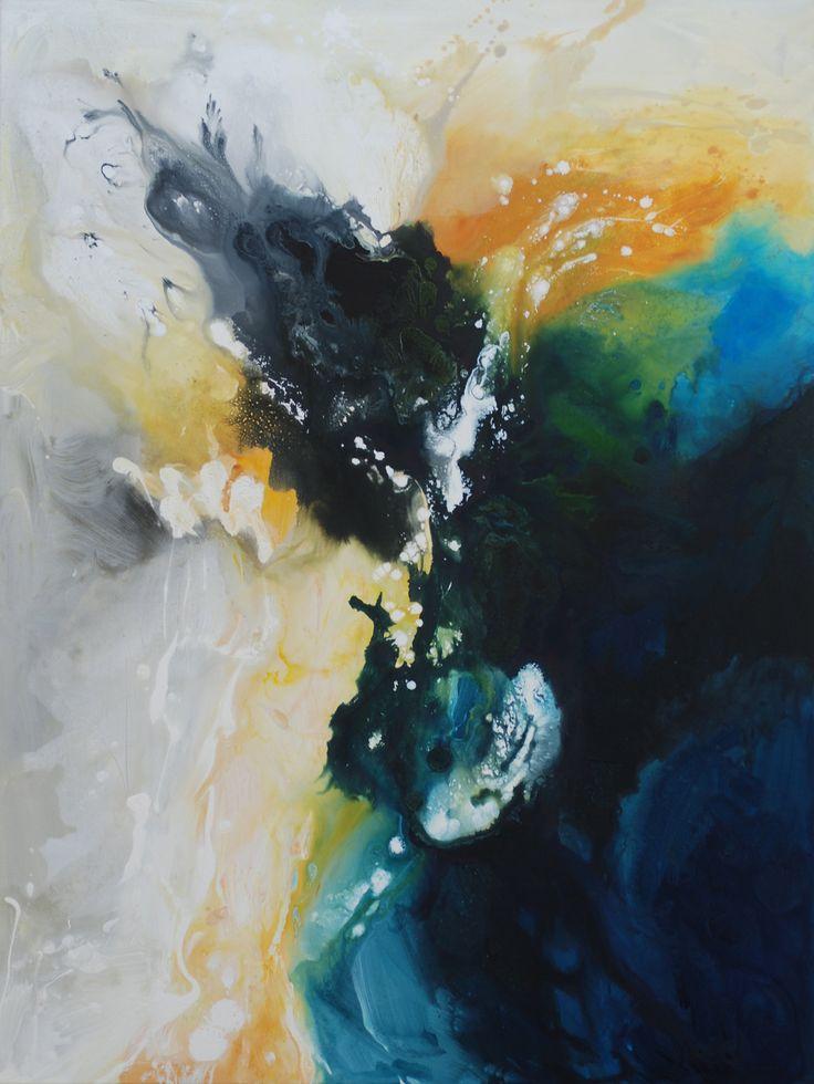 "Blue Universe Acrylic on canvas 36""x48"" www.cristinazorrillaspeer.com"
