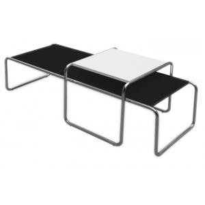 Tavolo con struttura in tubo metallico cromato.    Piano bilaminato bianco e nero.    Dal produttore al consumatore, creazione e produzione made in Italy.    N.B. Tempi di consegna 20 gg.