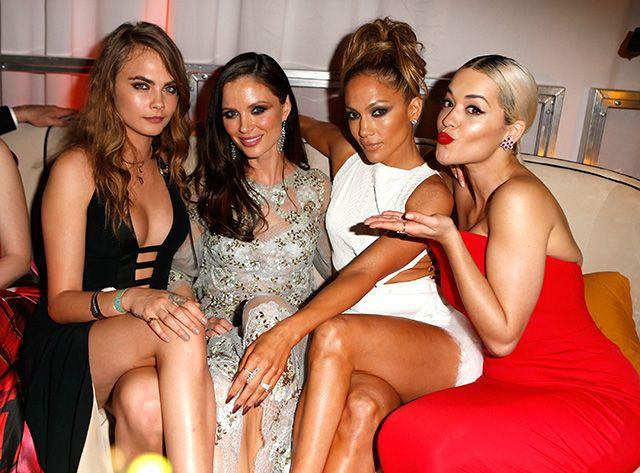 Cara Delevingne, Jennifer Lopez and more at Golden Globes after-party