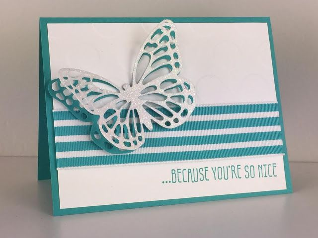 Butterfly Monochromatic Stampin' Up! Card - Giveaway