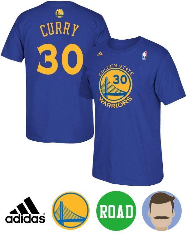 Men's Stephen Curry Net Number Road Short Sleeve T-Shirt