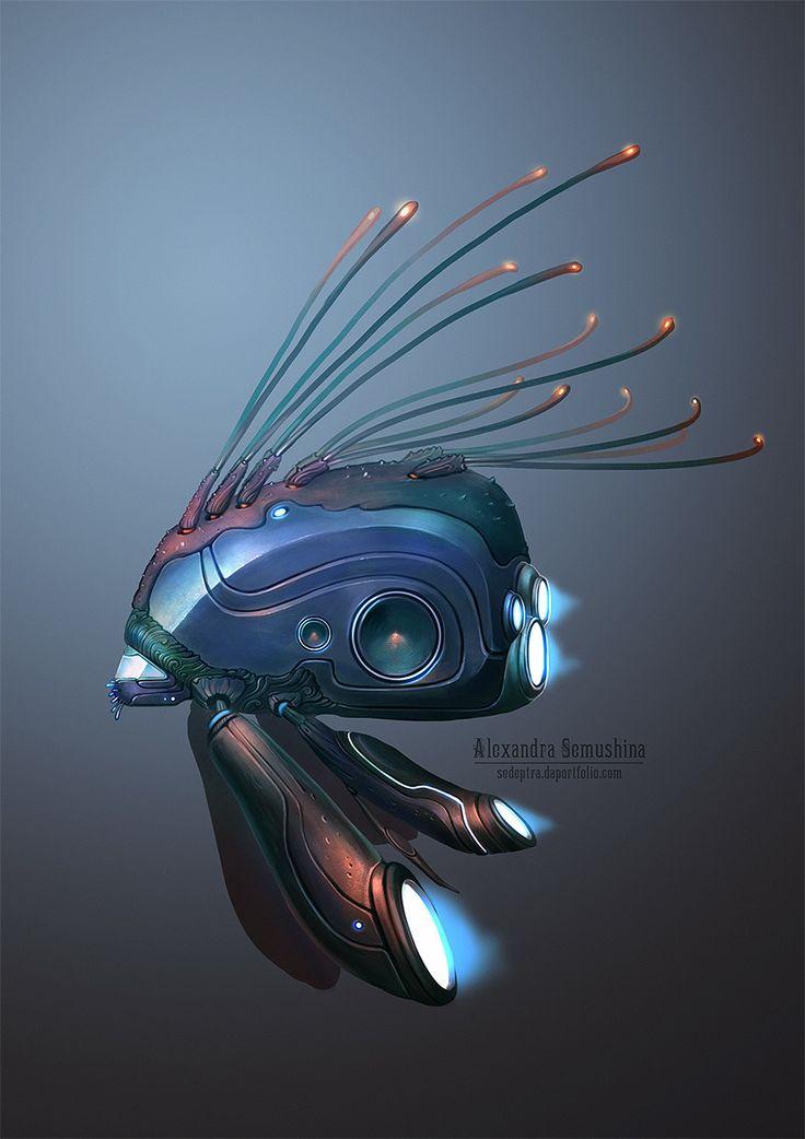 ArtStation - Biotech spaceships, Alexandra Semushina