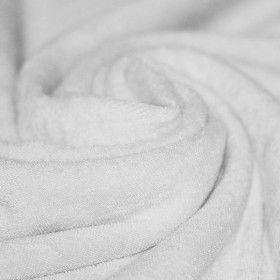 Frottee Stoff Stretch Weiß
