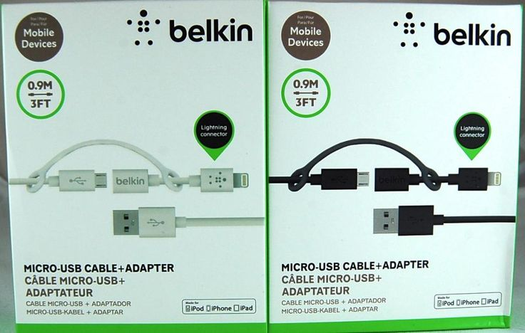 BELKIN Kabel Lightning   microUSB 2w1 iPhone HTC