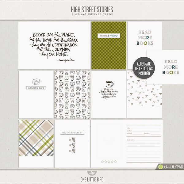 High Street Stories Journaling Cards *LOVE the minimal design