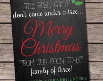 Christmas Pregnancy Announcement Christmas by LaLaExpressions