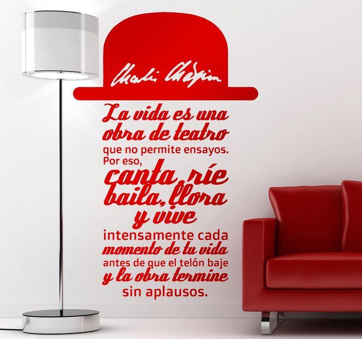 Tenvinilo_vinilo decorativo texto chaplin