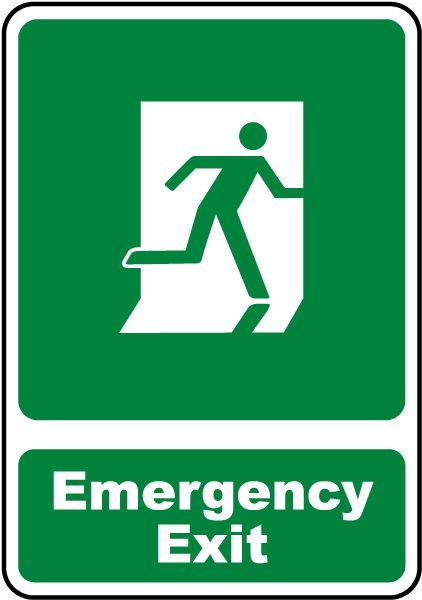 Image result for emergency exit sign