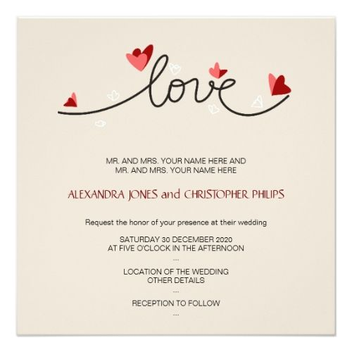 1000 Ideas About Simple Wedding Invitations On Pinterest