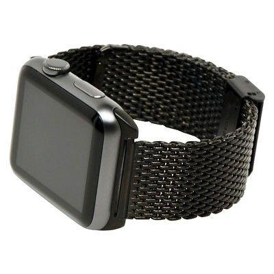 Monowear Black Mesh Band + Dark Gray Mate Elegant Adapter 42mm, Adult Unisex, Black Gray
