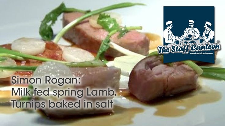Two Michelin Starred Simon Rogan Cooks Milk Fed Spring Lamb, Turnips Baked In Salt -- Watch Staff Canteen create this delicious recipe at http://myrecipepicks.com/28329/StaffCanteen/two-michelin-starred-simon-rogan-cooks-milk-fed-spring-lamb-turnips-baked-in-salt/