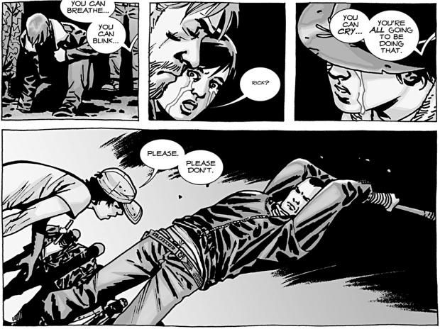 Walking Dead Comics...Glenn bashed