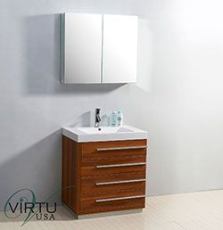 "30"" Virtu Bailey JS-50530-PL Single Sink Bathroom Vanity - Plum  #Virtu #HomeRemodel #BathroomRemodel #BlondyBathHome #BathroomVanity"