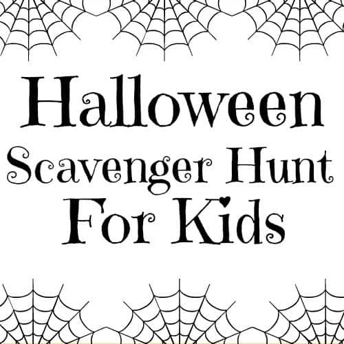Halloween Scavenger Hunt For Kids (Free Printable) (With
