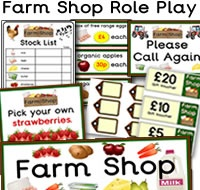 Farm Shop Role Play Resources. There are many great Farm Shop themed role play resources available to download, such as opening times, clock, signs, prices, basket signs, stock list worksheet, shopping list,  themed borders and much more. For more of these resources please check out our site.