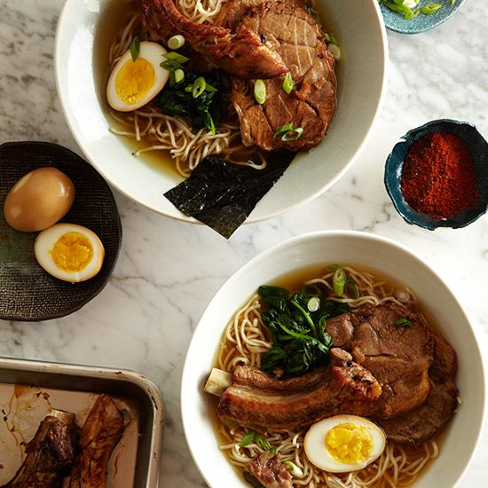 How to Make Shoyu Ramen   Grace Parisi's version of this Japanese classic pairs chewy, slippery noodles with an incredibly meaty pork-and-chicken-based broth