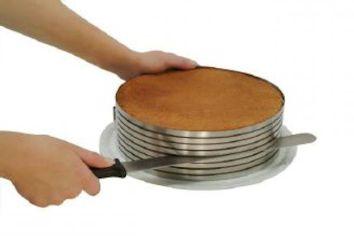 L'anello taglia torta è uno strumento in acciaio inox che permette di tagliare la torta fino ad un massimo di 8 fette.  Regolabile da 26 a 28 cm di diametro.