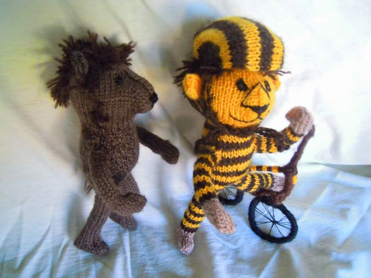 Wollfadengeschöpfe: Kleiner Tiger, kleiner Bär und Maja-Papaya mit dem...