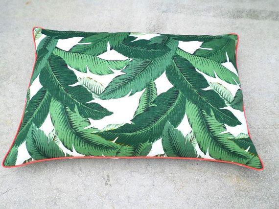 Tropical dog bed cover swaying palm print banana by anitascasa