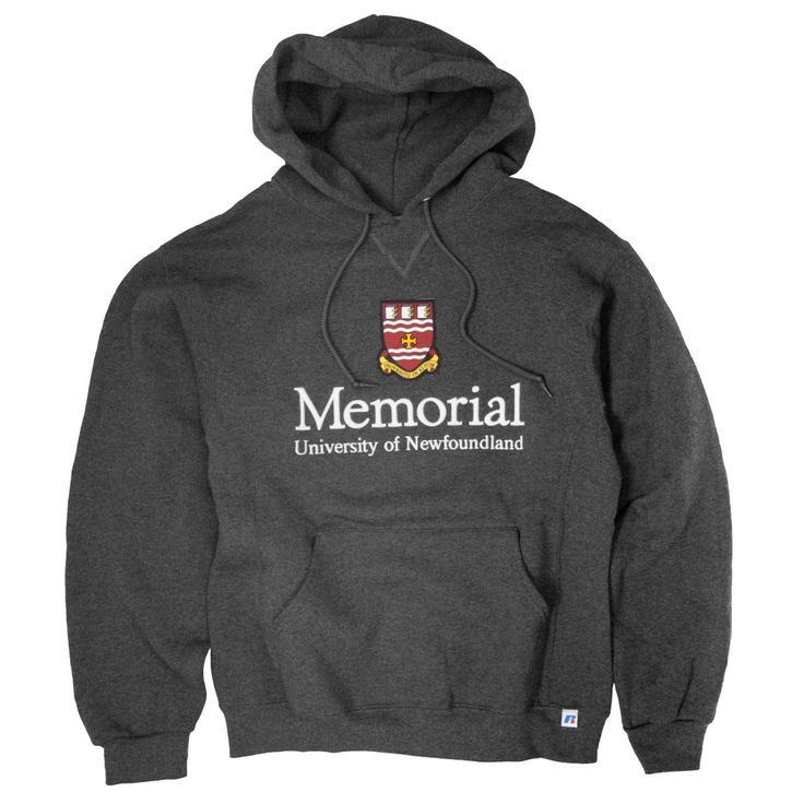 Hoodie with Memorial crest (Charcoal)