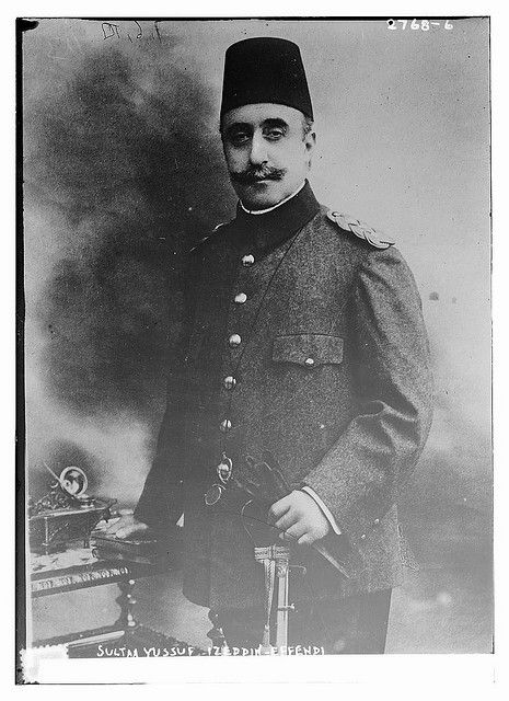 Prince Yusuf Izzeddin (1857-1916), the son of Sultan Abdulaziz and Crown Prince of the Ottoman Empire from 1909 until his death.