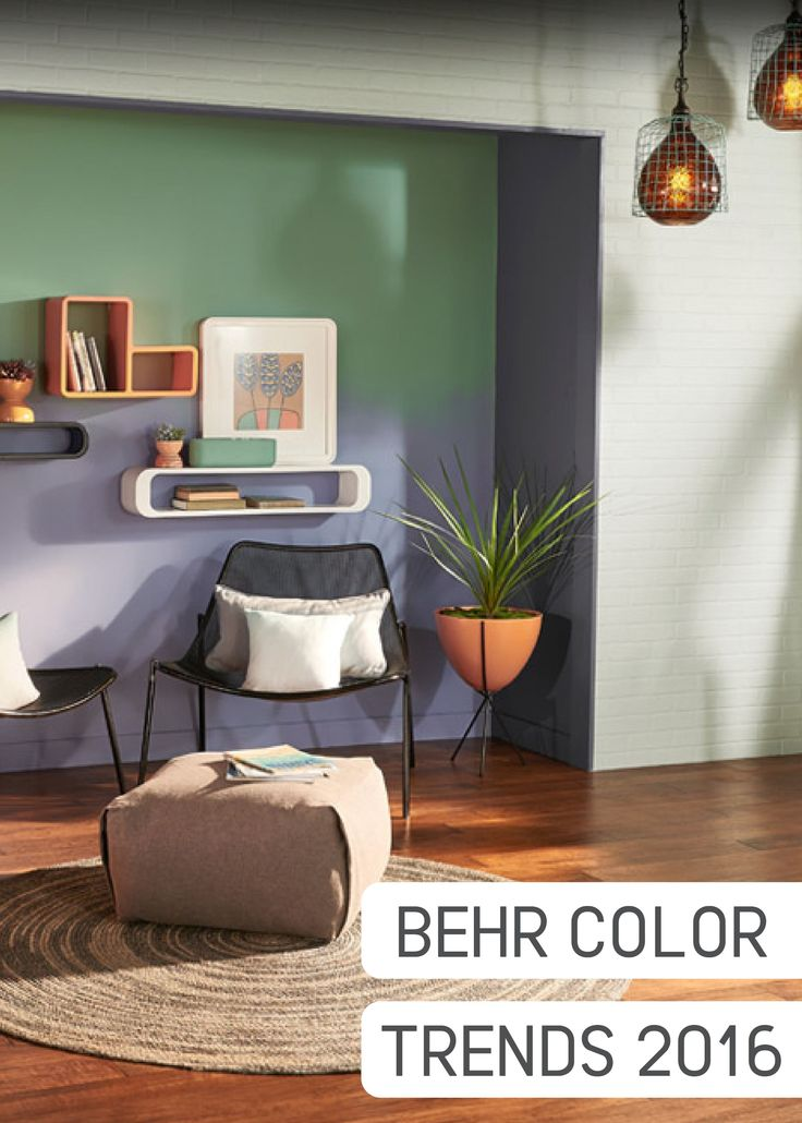 Behr Modern Mint Green And Stratus Blue Create A Stunning Ombre Effect On An Accent Wall